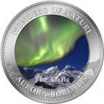 Cook Islands - 2009 - 1 Dollar - 7 Wonders of Nature AURORA BOREALIS (PROOF)