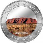 Cook Islands - 2009 - 1 Dollar - 7 Wonders of Nature AYERS ROCK (PROOF)