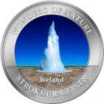Cook Islands - 2009 - 1 Dollar - 7 Wonders of Nature STROKKUR GEYSER (PROOF)