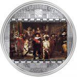 Cook Islands - 2009 - 20 Dollars - Rembrandt Nightwatch [masterpieces of art series] (PROOF)