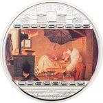 Cook Islands - 2009 - 20 Dollars - Spitzweg Poor Poet [masterpieces of art series] (PROOF)