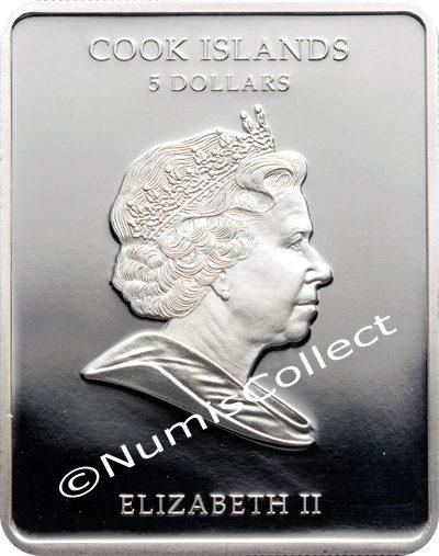 Cook Islands - 2009 - 5 Dollars - Russian Icons Virgin of Kazan (PROOF)