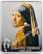 "Cook Islands - 2009 - 5 Dollars - Johannes Vermeer Girl with a pearl""  (serie Masters of Europe) (PROOF)"""