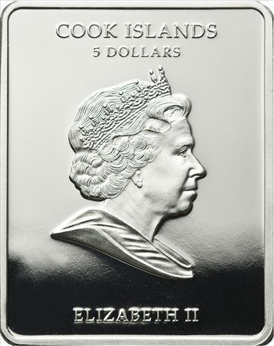 Cook Islands - 2011 - 5 Dollars - Patron Saints St. Helena (PROOF)
