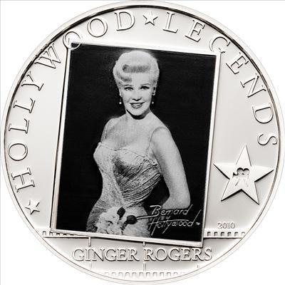 Cook Islands - 2010 - 5 Dollars - Hollywood Legends GINGER ROGERS (PROOF)