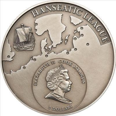 Cook Islands - 2010 - 5 Dollars - Hansa city ZUTPHEN in the Netherlands (ANTIQUE)
