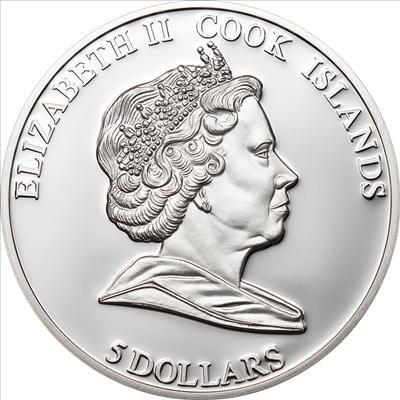 Cook Islands - 2011 - 5 Dollars - Hollywood Legends LIZ TAYLOR in memoriam (PROOF)