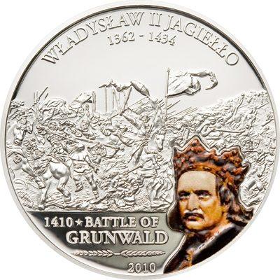 Cook Islands - 2010 - 5 Dollars - Great Battles & Commanders W. II Jagiello 600 yr Grundwald Battle (PROOF)