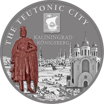 Cook Islands - 2010 - 5 Dollars - Hansa city KALININGRAD in Russia (ANTIQUE)