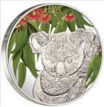 Cook Islands - 2011 - 5 Dollars - Koala Eukaliptus Smelling Coin (PROOF)