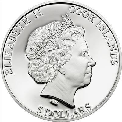 Cook Islands - 2011 - 5 Dollars - Hollywood Legends MARILYN MONROE diamond (PROOF)
