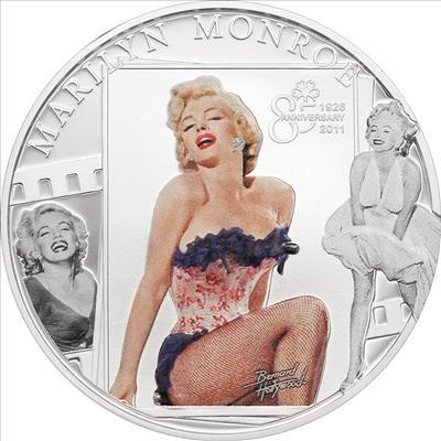 Cook Islands - 2011 - 5 Dollars - Hollywood Legends MARILYN MONROE diamond CUNI (PROOF)