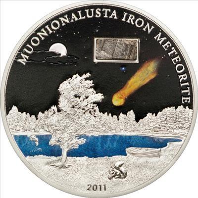 Cook Islands - 2011 - 5 Dollars - The Muonionalusta Meteorite (PROOF)
