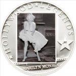 Cook Islands - 2011 - 5 Dollars - Hollywood Legends MARILYN MONROE (PROOF)