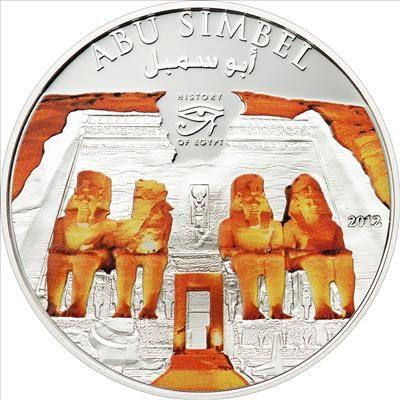 Cook Islands - 2012 - 1 Dollars - History of Egypt ABU SIMBEL (PROOF)