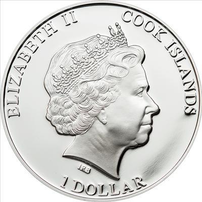 Cook Islands - 2012 - 1 Dollars - History of Egypt TUTANCHAMON (PROOF)