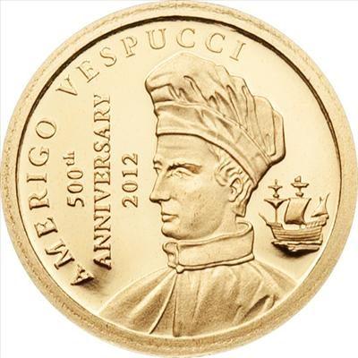 Cook Islands - 2012 - 1 Dollars - Vespucci (PROOF)
