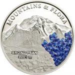 Palau - 2014 - 5 Dollars - Mountains & Flora BROAD PEAK (including box) (PROOF)