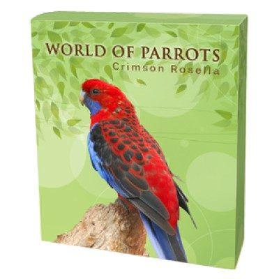 Cook Islands - 2014 - 5 Dollar - World of Parrots CRIMSON ROSELLA 3D (PROOF)