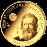 Cook Islands - 2014 - 200 dollar - Galileo Galilei 450th Anniversary (PROOF)
