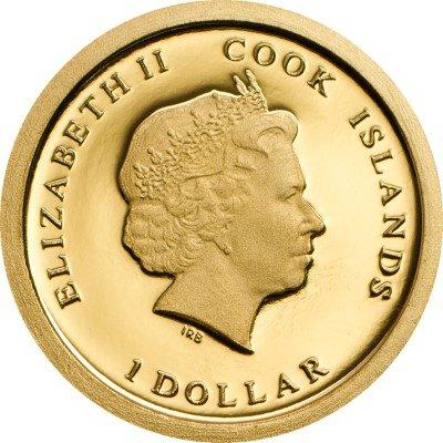 Cook Islands - 2014 - 1 Dollar - Hollywood Legends BRIGITTE BARDOT (PROOFLIKE)