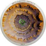 Cook Islands - 2014 - 5 Dollars - Moldavite Impact (including box) (PROOF)