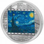 Cook Islands - 2015 - 20 Dollars - Masterpieces of Art VAN GOGH STARRY NIGHT (PROOF)