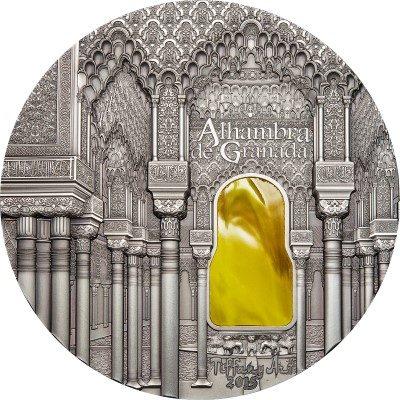 Palau - 2015 - 50 Dollars - Tiffany Art ALHAMBRA DE GRANADA 1KG (including box) (ANTIQUE)