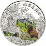 Cook Islands - 2015 - 2 Dollars - World of Hunting ALPINE MARMOT (including box) (PROOF)