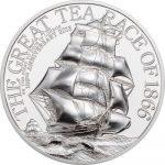 Cook Islands - 2016 - 10 Dollars - The Great Tea Race 2oz PIEDFORT (including box) (PROOF)