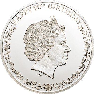 Cook Islands - 2016 - 1 Dollar - Happy 90th Birthday Queen Elizabeth II 2g (including box) (PROOF)