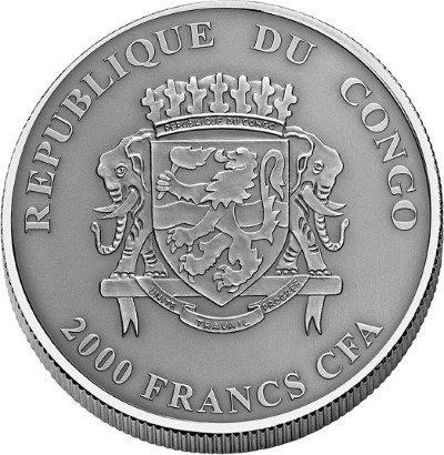 Congo - 2016 - 2000 Francs CFA - Nature's Eyes CHINA-ALLIGATOR (ANTIQUE)
