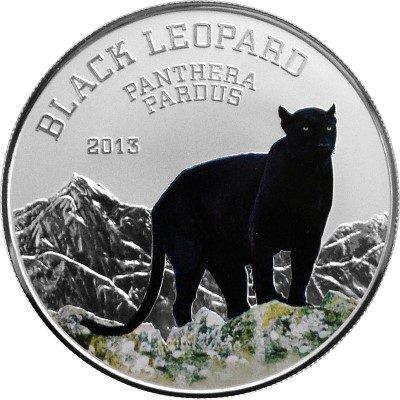 Congo - 2013 - 1000 Francs - Black Beauties BLACK LEOPARD (PROOF)
