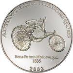 Congo - 2002 - 10 Francs - Benz Patent Motorwagen 1886 (PROOF)