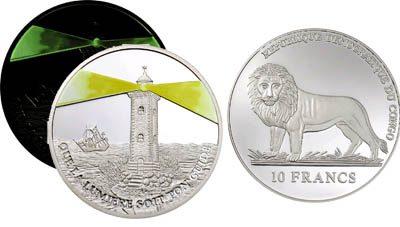 Congo - 2006 - 10 Francs - Lighthouse Muanda with fluor (PROOF)