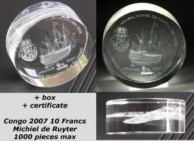 Congo - 2007 - 10 Francs - 400 Jaar michiel de Ruyter (ship motive) (ST)