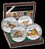 Congo - 2011 - 4x30 Francs - Big Cats (PROOF)