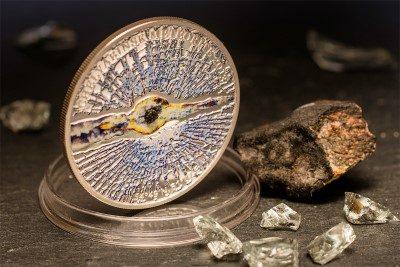 Cook Islands - 2013 - 5 dollars - Chelyabinsk Meteorite (including box) (PROOF)