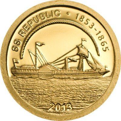 Cook Islands - 2013 - 1 dollar - SS Republic (PROOF)