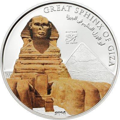 Cook Islands - 2014 - 1 Dollars - History of Egypt SPHINX  (PROOF)
