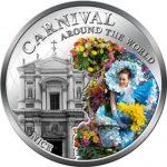 Fiji - 2012 - 1 Dollar - Carnival around the World NICE (PROOF)