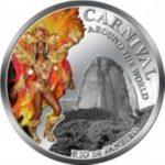 Fiji - 2012 - 1 Dollar - Carnival around the World RIO DE JANEIRO (PROOF)