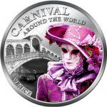 Fiji - 2012 - 1 Dollar - Carnival around the World VENICE (PROOF)