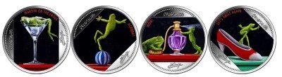Fiji - 2016 - 4 x 1 Dollar - Frogtales (4 Coin Set) (PROOFLIKE)