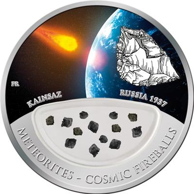Fiji 2012 10 Dollars Meteorites Kainsaz Proof