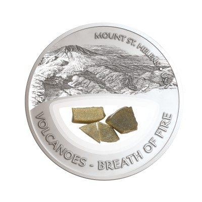 Fiji - 2013 - 10 dollar - Vulcano MOUNT ST. HELENS (including box) (PROOF)