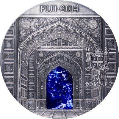 Fiji - 2014 - 100 Dollars - Masterpieces in Stone KILO SILVER - TAJ MAHAL (PROOF)