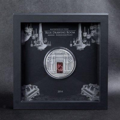Fiji - 2014 - 10 Dollars - Masterpieces in Stone BUCKINHAM PALACE (PROOF)
