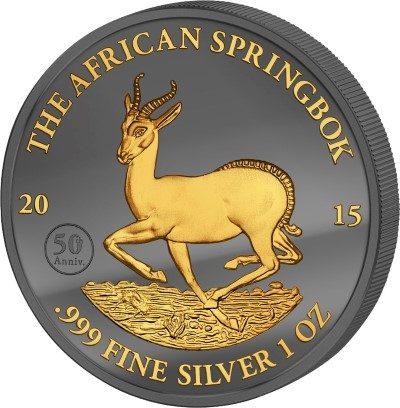 Gabon - 2015 - 1000 Francs - Golden Enigma SPRINGBOK (BU)