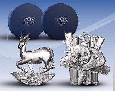 Gabon - 2016 - 1000 Francs CFA - Full Sculpture CHINESE PANDA (SATINED)
